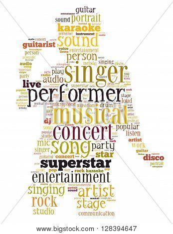 Singer Performer, Word Cloud Concept 4