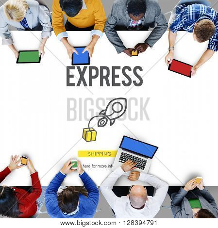 Express Logistic Cargo Freight Manufacturing Concept