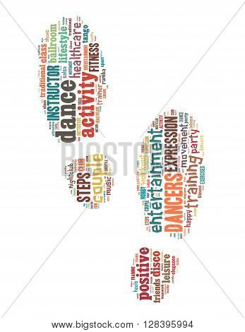 Step By Step Dance, Word Cloud Concept 3
