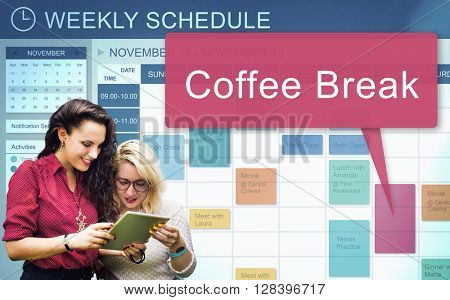Coffee Break Beverage Cafe Drinking Enjoyment Concept