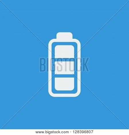 Battery Icon In Vector Format. Premium Quality Battery Symbol. Web Graphic Battery Sign On Blue Back