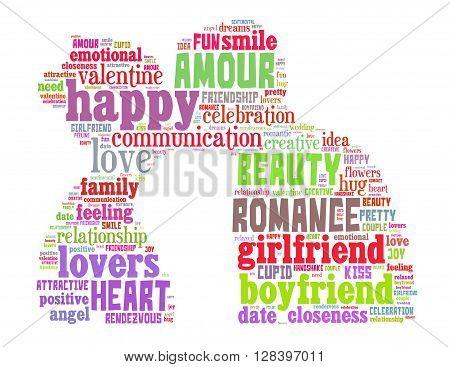 True Love, Word Cloud Concept