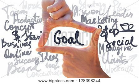 Gesture Photo Hands Frame Goal Business Concept