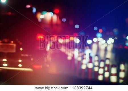 Headlight Car City Stopped Traffic Bright Toned
