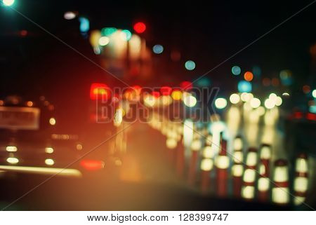 Headlight Car Defocused Movement Stopped Traffic