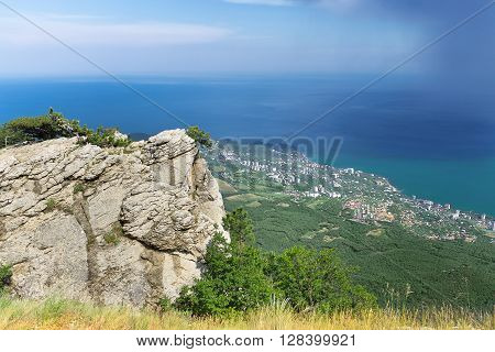 bright summer travel photo  / Crimea landscape