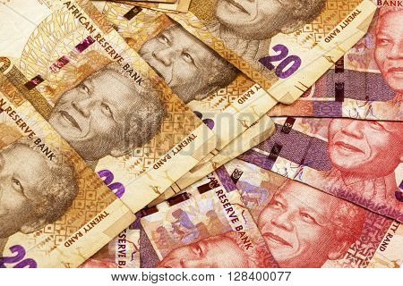 Twenty Andffifty Rand Brown And Red Bank Notes