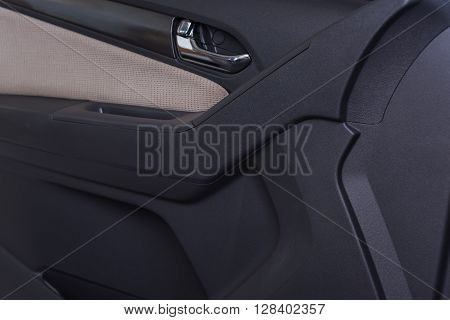 Car Interior Black Door Panel