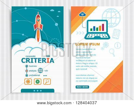 Project Criteria Concepts And Set Of Banners.