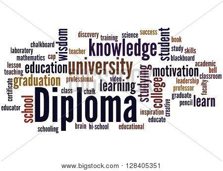 Diploma, Word Cloud Concept 4