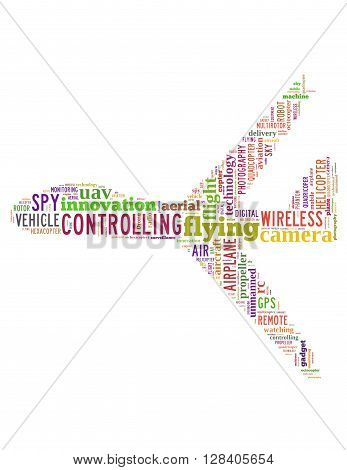 Drone Flying, Word Cloud Concept 7