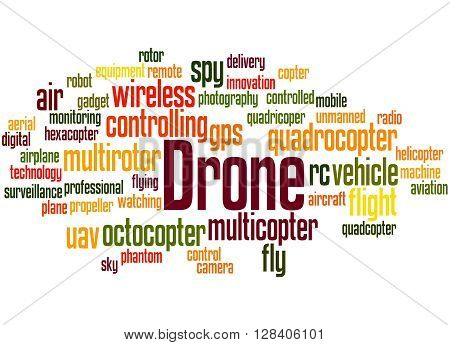 Drone, Word Cloud Concept 8