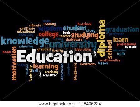 Education, Word Cloud Concept 6