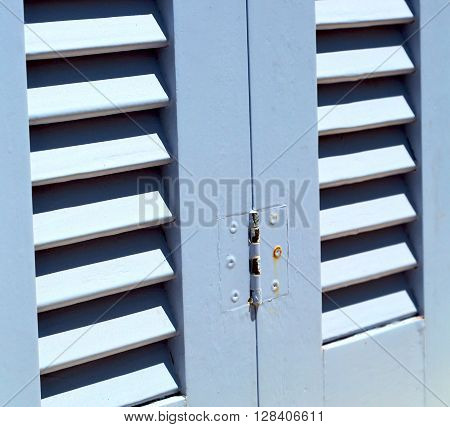 Venetian Blind     In    Santorini Europe Greece  Old Architecture And Gray