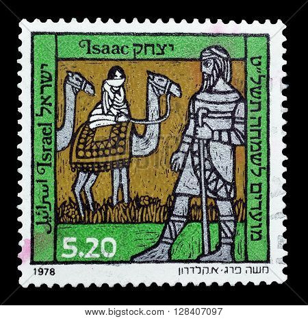 ISRAEL - CIRCA : 1978 : Cancelled postage stamp printed by Israel, that shows Isaac.