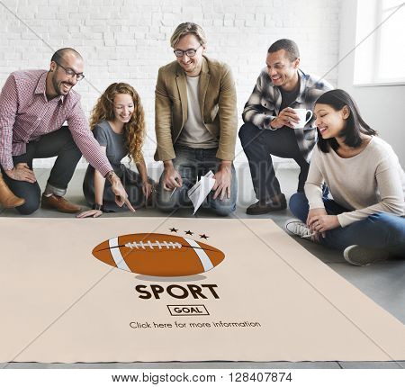 Touchdown Sport American Football Power Speed Strategy Concept