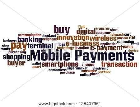 Mobile Payments, Word Cloud Concept