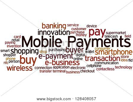 Mobile Payments, Word Cloud Concept 5