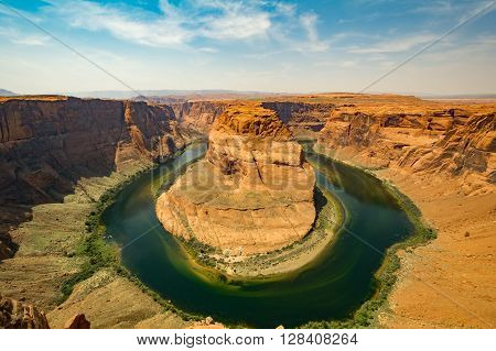 Horse Shoe Bend Lake Powell formed by colorado River