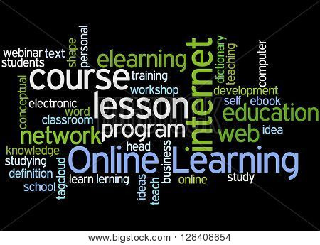 Online Learning, Word Cloud Concept 4