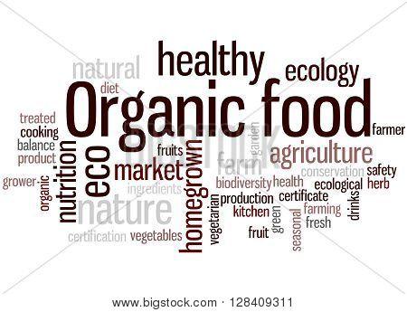 Organic Food, Word Cloud Concept 3