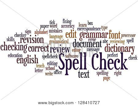 Spell Check, Word Cloud Concept 4