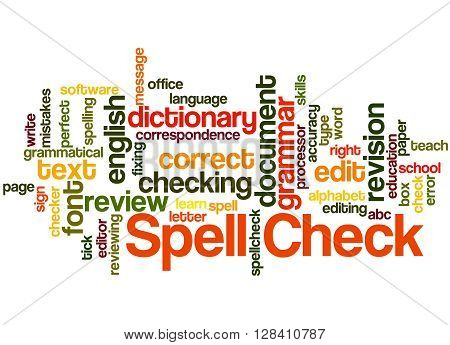 Spell Check, Word Cloud Concept 6