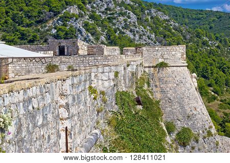 Island of Hvar ancient stone architecture view Dalmatia Croatia