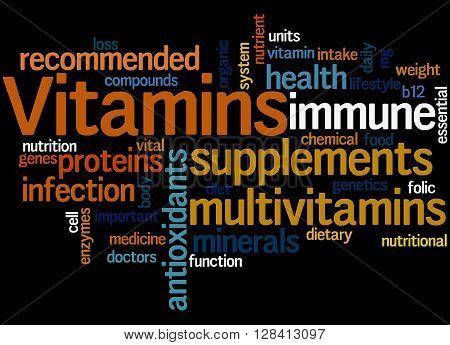 Vitamins, Word Cloud Concept 6