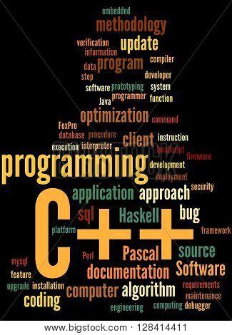 C++ Programming, Word Cloud Concept 4