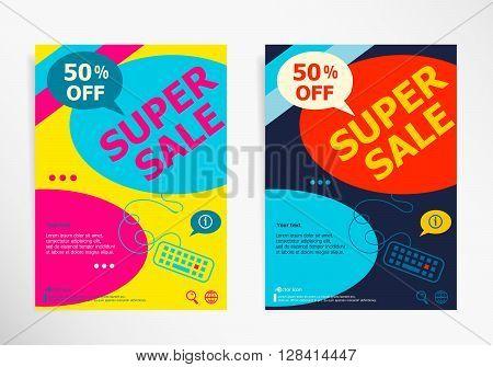 Super Sale Design Layout. Sale Banner For Website
