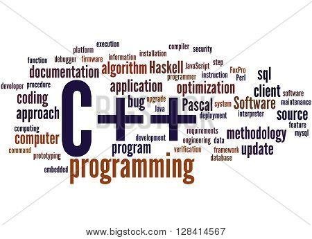 C++ Programming, Word Cloud Concept 9
