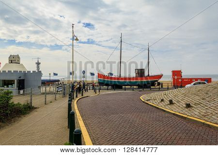 Hague, Netherlands - May 8: It is in the North Sea coast of Scheveningen called the Northern Riviera May 8, 2013 in Hague, Netherlands.