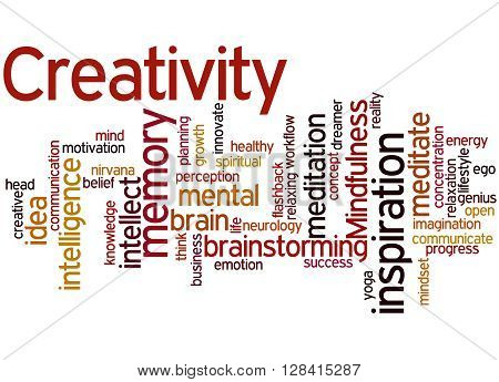 Creativity, Word Cloud Concept 3