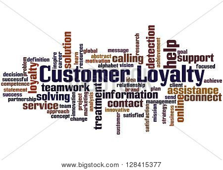 Customer Loyalty, Word Cloud Concept 3