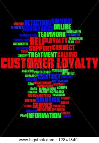 Customer Loyalty, Word Cloud Concept 5