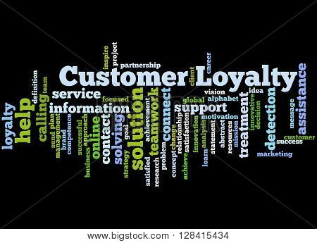 Customer Loyalty, Word Cloud Concept 7