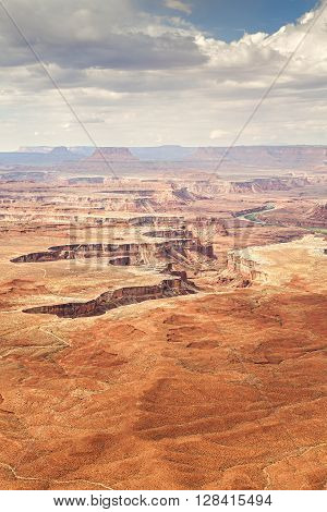 Deserted Landscape In Canyonlands National Park.