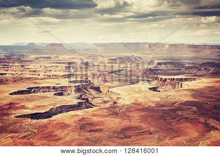 Old Film Stylized Landscape In Canyonlands National Park.
