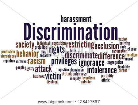 Discrimination, Word Cloud Concept 5