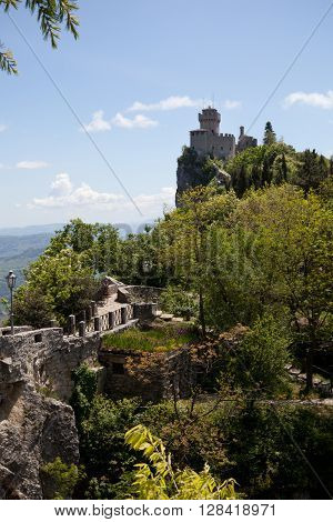 View on the tower of San Marino castle