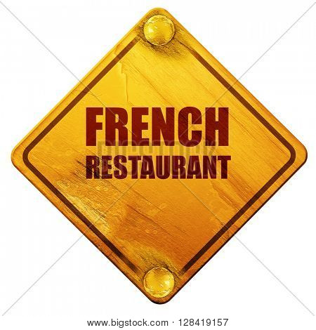 Delicious french cuisine, 3D rendering, isolated grunge yellow r