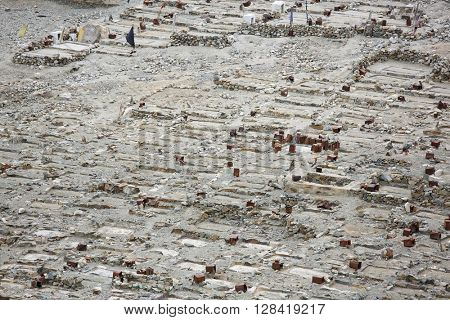 Muslim cemetery near Turtuk village, Jammu & Kashmir, India