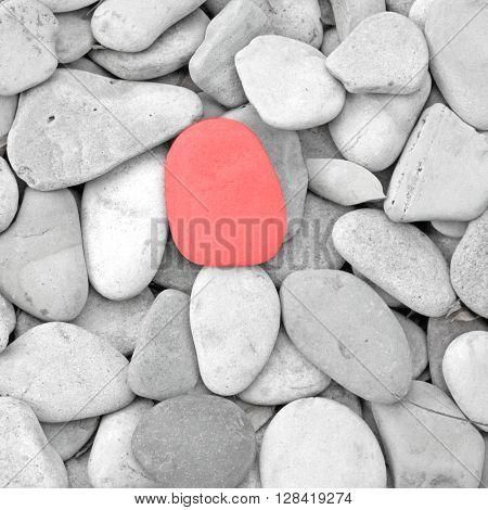 A pebble selected