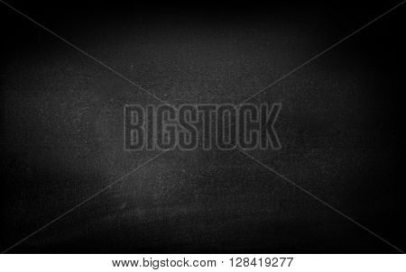 Blank black blackboard with space for content