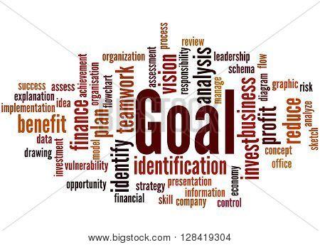 Goal, Word Cloud Concept