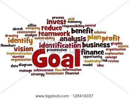 Goal, Word Cloud Concept 3