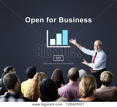 Open for Business Partnership Industry Concept
