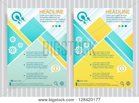 Sperms And Egg  Symbol On Vector Brochure Flyer Design Layout Template