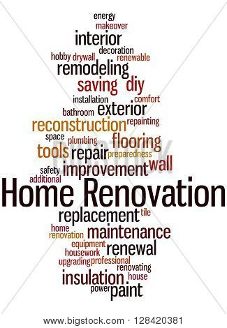 Home Renovation, Word Cloud Concept 8